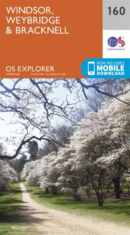OS Explorer 160 - Windsor, Weybridge & Bracknell